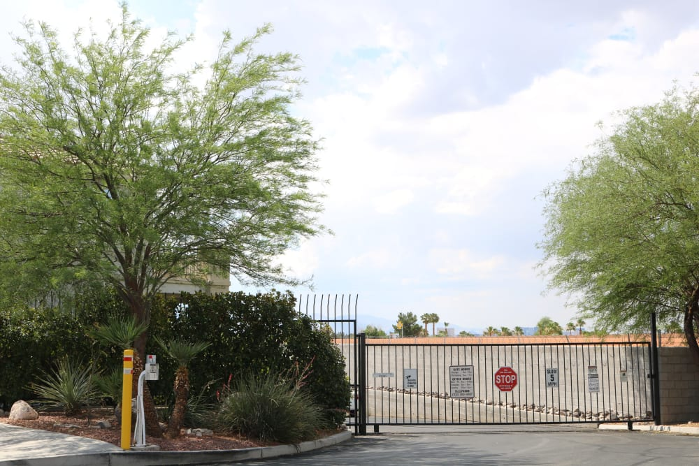 The secure gated entrance to Best Storage in Henderson, Nevada