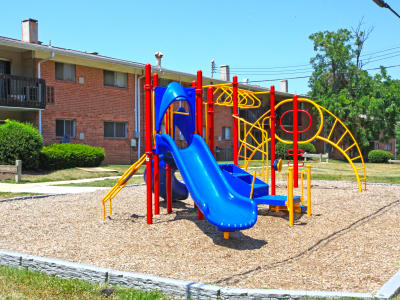 State-of-the-art playground at apartments in Temple Hills, Maryland