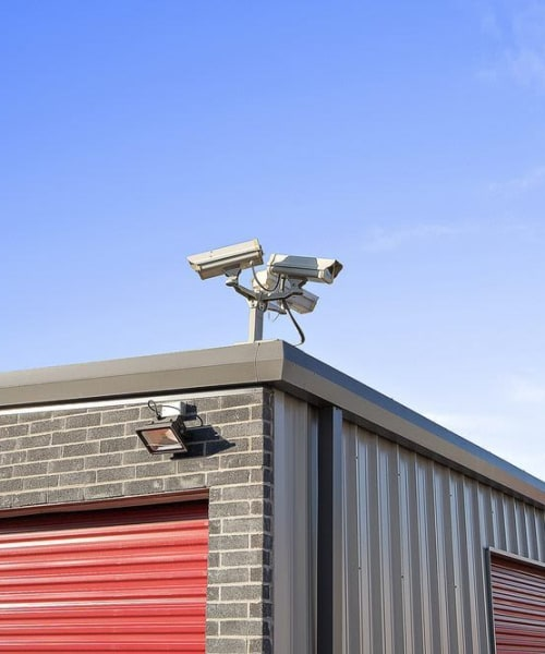 One of our security cameras at Global Self Storage in Edmond, Oklahoma