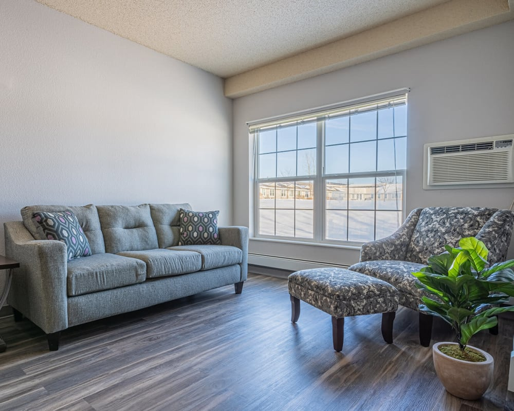 Spacious townhomes are available at Traditions of Owatonna in Owatonna, Minnesota.