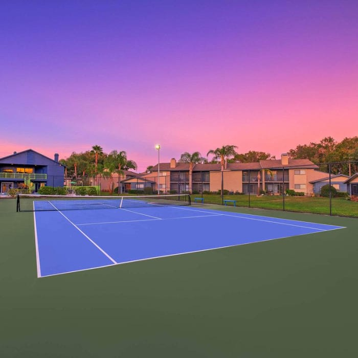 WestEnd At 76Ten has a beautiful tennis court in Tampa, Florida