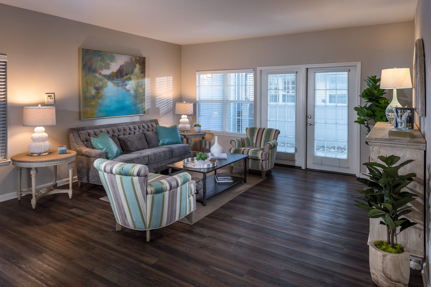 Open floor plans at Nantucket Apartments in Santa Clara, California