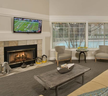 Resident lounge at Mill Springs Park Apartment Homes in Livermore, California