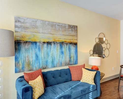 View our floor plans at The Mark at Brickyard Apartment Homes in Beltsville, Maryland