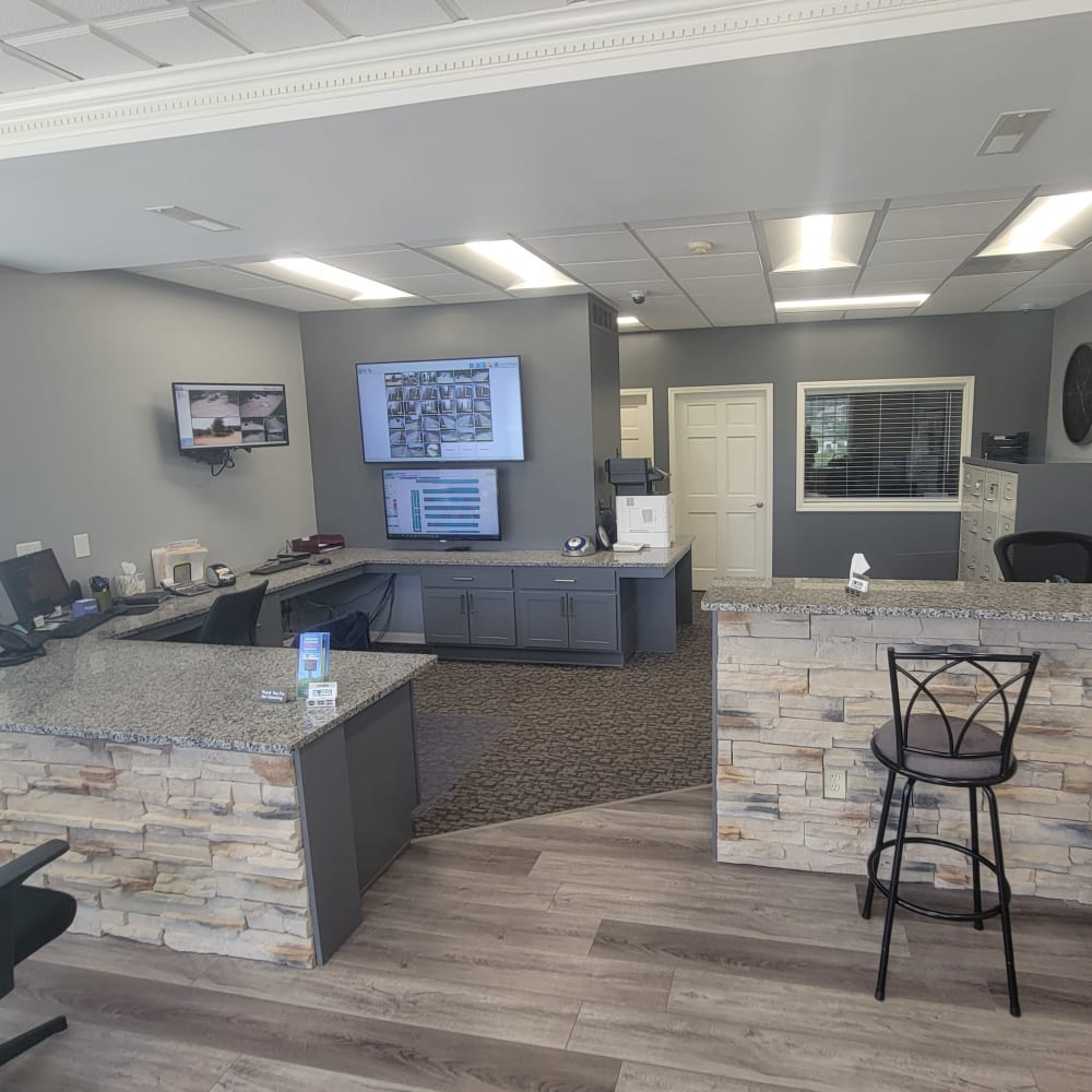 Inside the office at 3L Self Storage in Fort Wright, Kentucky