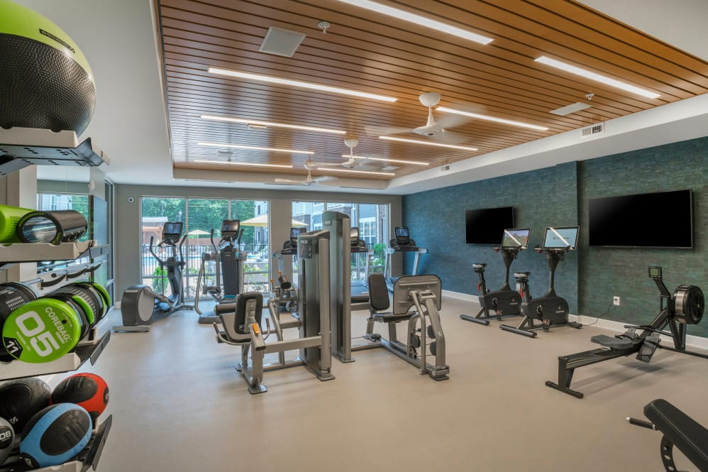 Our apartments in Newport News, Virginia showcase a modern fitness center