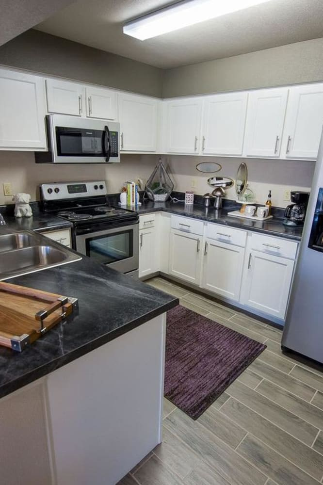 Bright kitchen at Watercress Apartments in Maize, Kansas