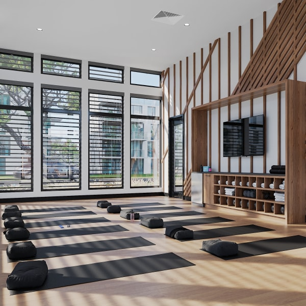 On demand fitness and training at Solana Stapleton Apartments in Denver, Colorado