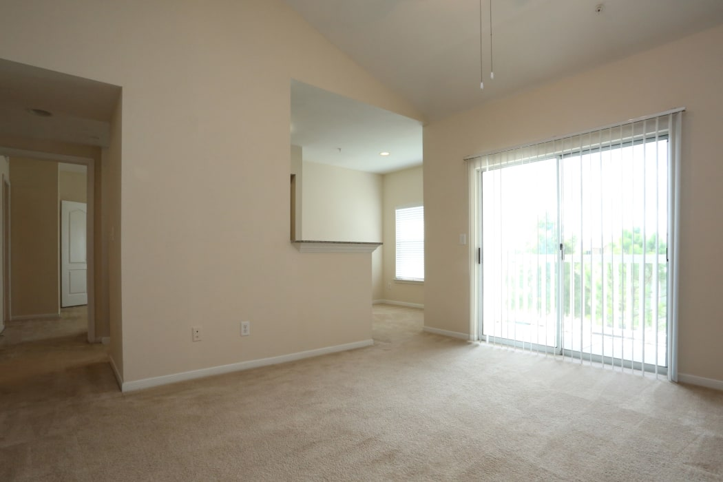 Spacious living room at Cornerstone Ranch Apartments