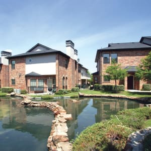Neighborhood at Villas at Parkside in Farmers Branch, Texas