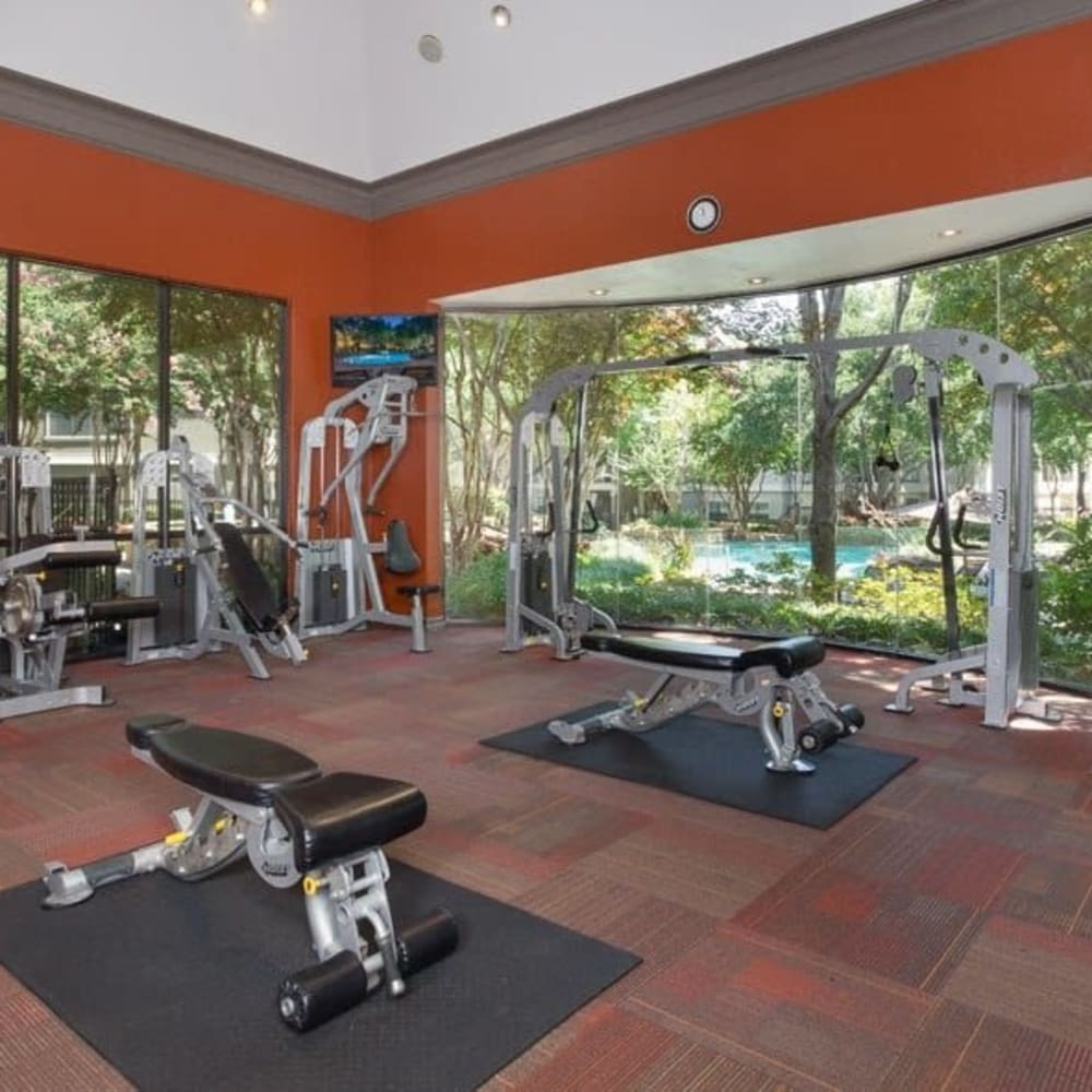 Gym at The Verandas at Timberglen in Dallas, Texas