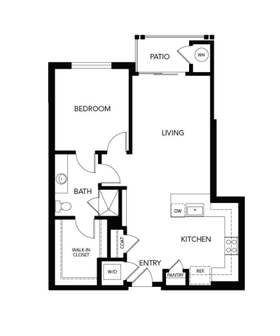 1 Bedroom A3a: 890 sq. ft. at Avenida Cool Springs in Franklin