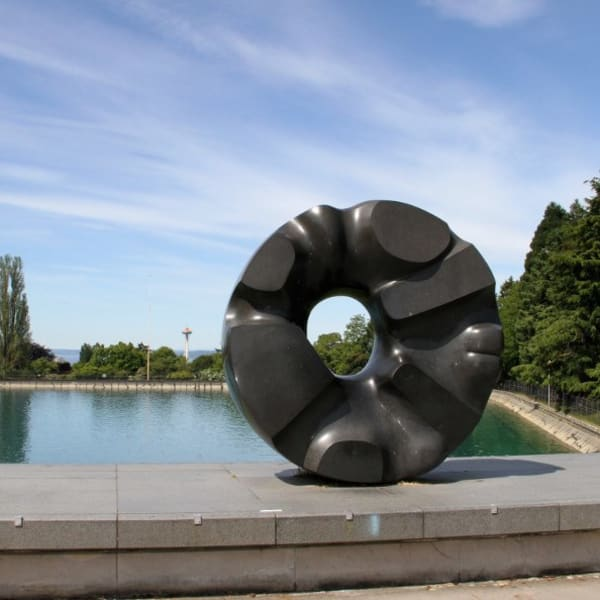 Beautiful sculpture at a local park near The Lyric in Seattle, Washington
