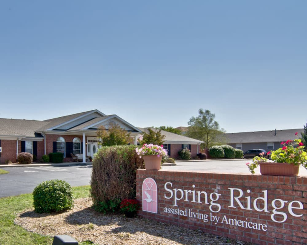 Main sign at Spring Ridge in Springfield, Missouri