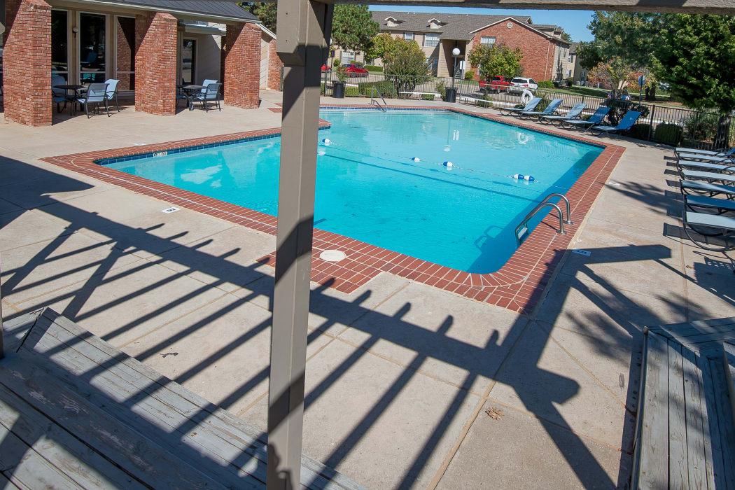 Beautiful pool at Tammaron Village Apartments in Oklahoma City, Oklahoma
