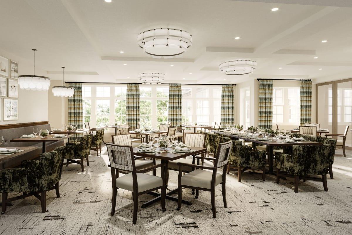 Dining room at Monark Grove Clarkston in Clarkston, Michigan