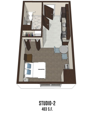 Independent living Studio 2 is 403 square feet at Mt Washington in Mt Washington, Kentucky.
