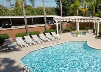 Swimming pool at apartments in Costa Mesa
