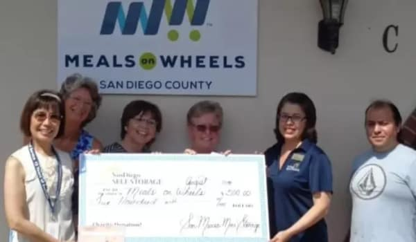 Charitable contributions at San Marcos Mini Storage in San Marcos, California