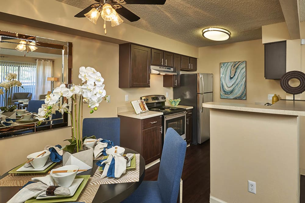 Kitchen Dining Room Combo at Alton Green Apartments in Denver, CO