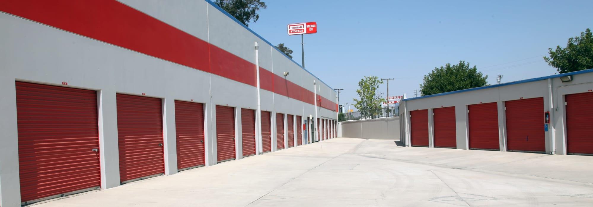 Self storage at Trojan Storage in Colton California