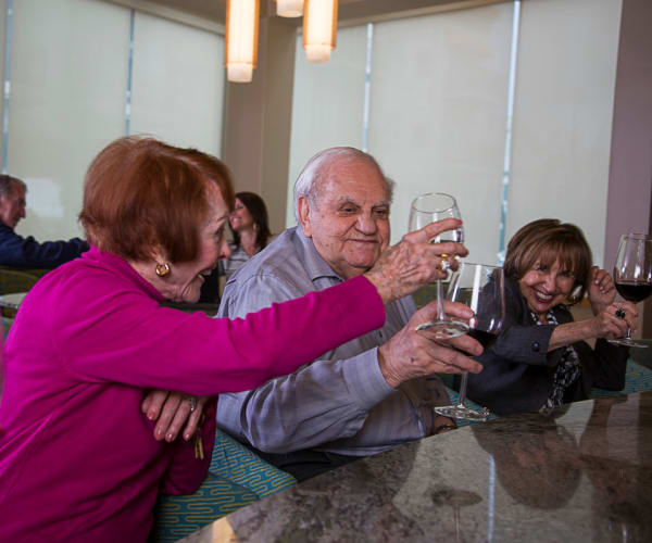 Residents enjoying beverages at All Seasons of Birmingham in Birmingham, Michigan