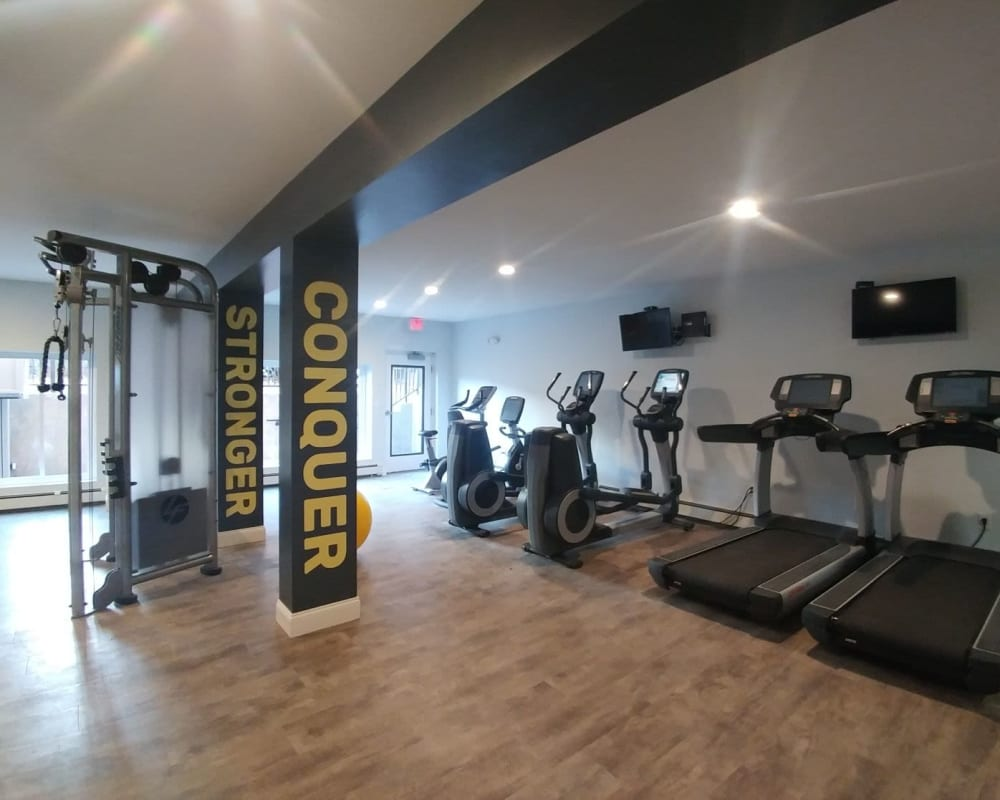 Awesome fitness center for residents at Eagle Rock Apartments at West Hartford in West Hartford, Connecticut