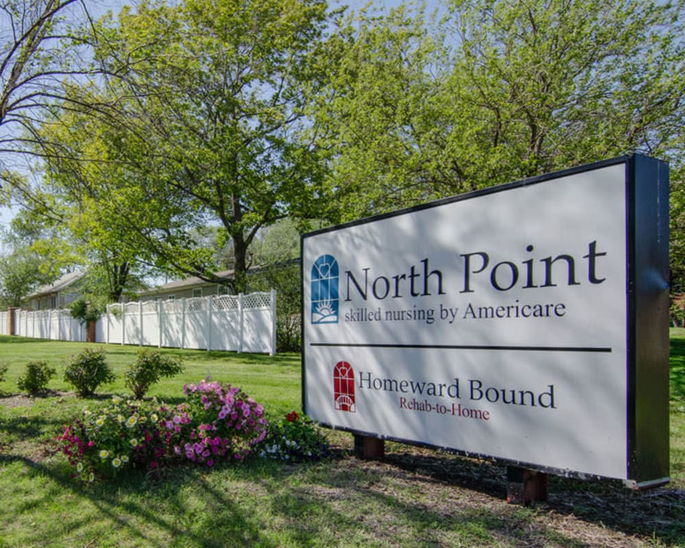Main sign at North Point in Paola, Kansas