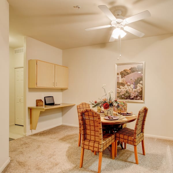 Spacious dining room at Laguna Creek Apartments in Elk Grove, California