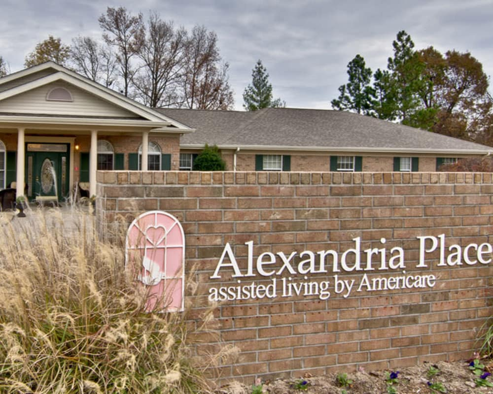 Main sign at Alexandria Place in Jackson, Tennessee