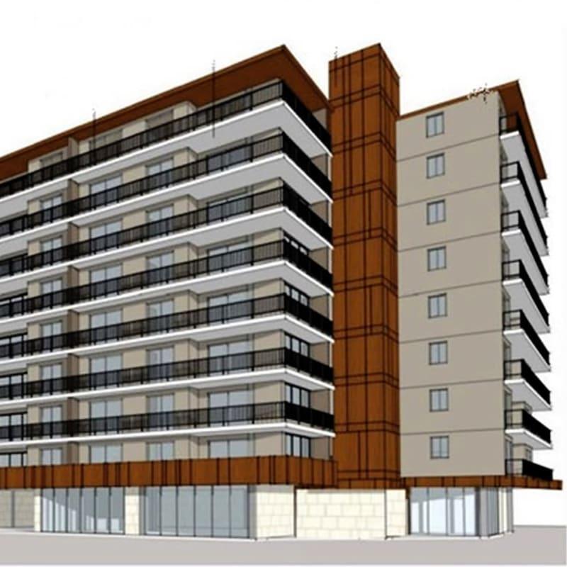 Entrance to Hillsborough Plaza Apartments in San Mateo, California