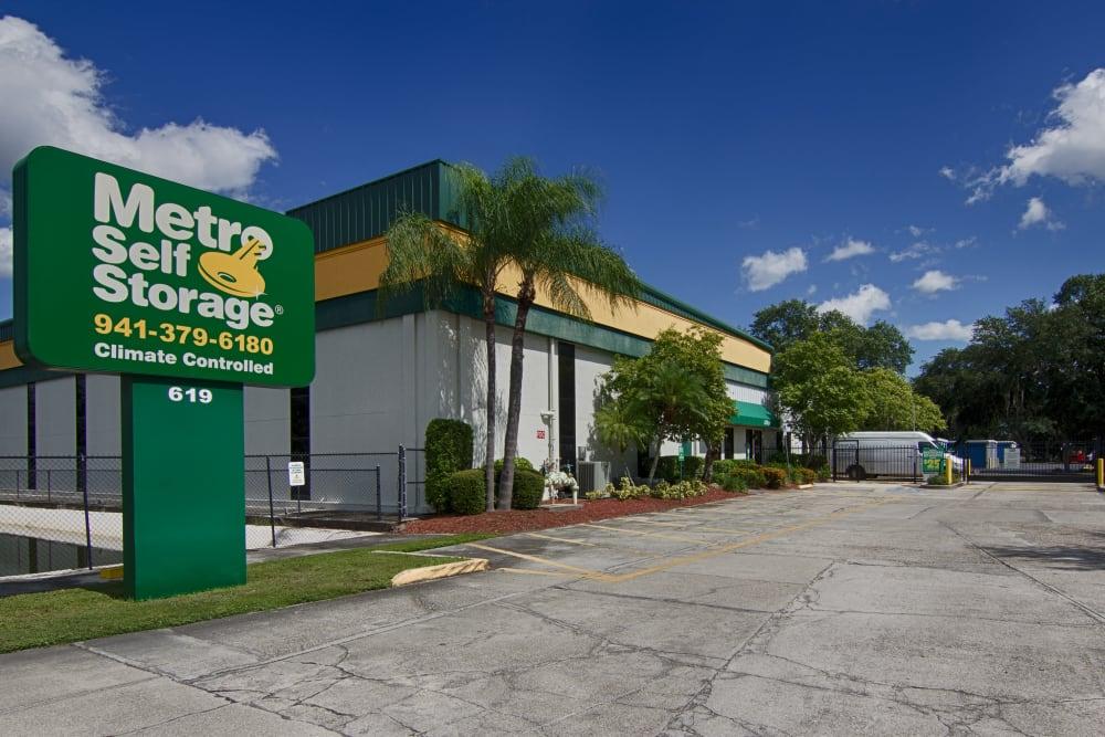 Parking area at Metro Self Storage in Sarasota, Florida