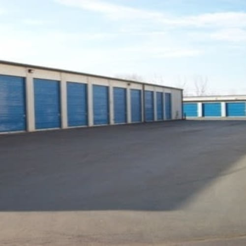 Exterior storage units at Westerville Mini Storage in Westerville, Ohio