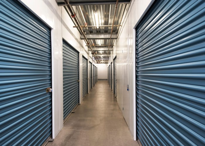 Climate-controlled storage units at Carlsbad Self Storage in Carlsbad, California