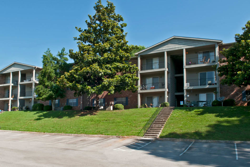 Front view of the apartments at Deane Hill