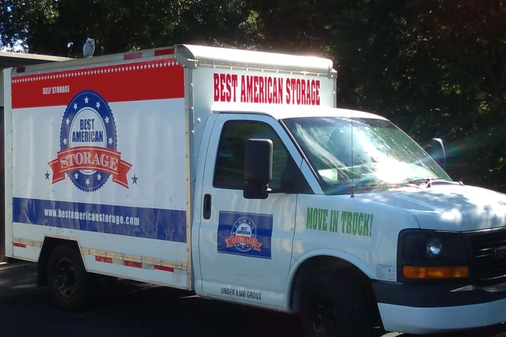 Moving truck at Best American Storage