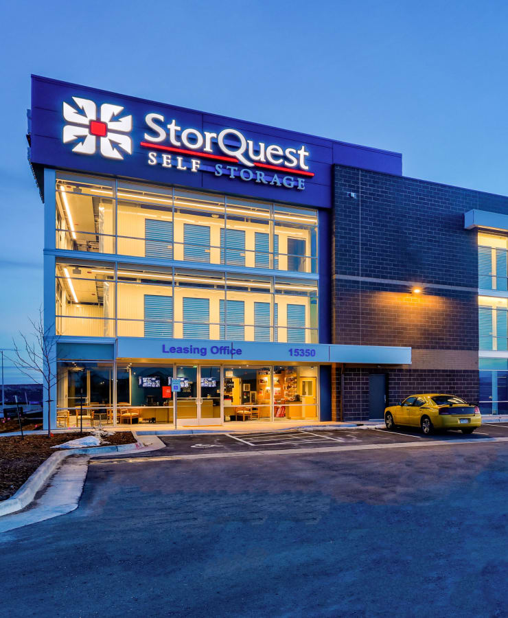Exterior of StorQuest Self Storage in Arvada, Colorado