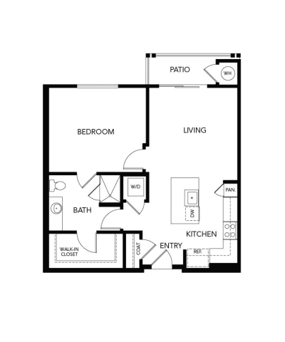 1 Bedroom A2b: 826 sq. ft. at Avenida Cool Springs in Franklin