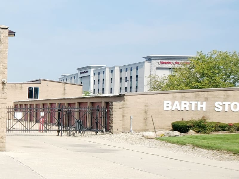 Gated entry to Barth Storage - 75th St in Bristol, Wisconsin