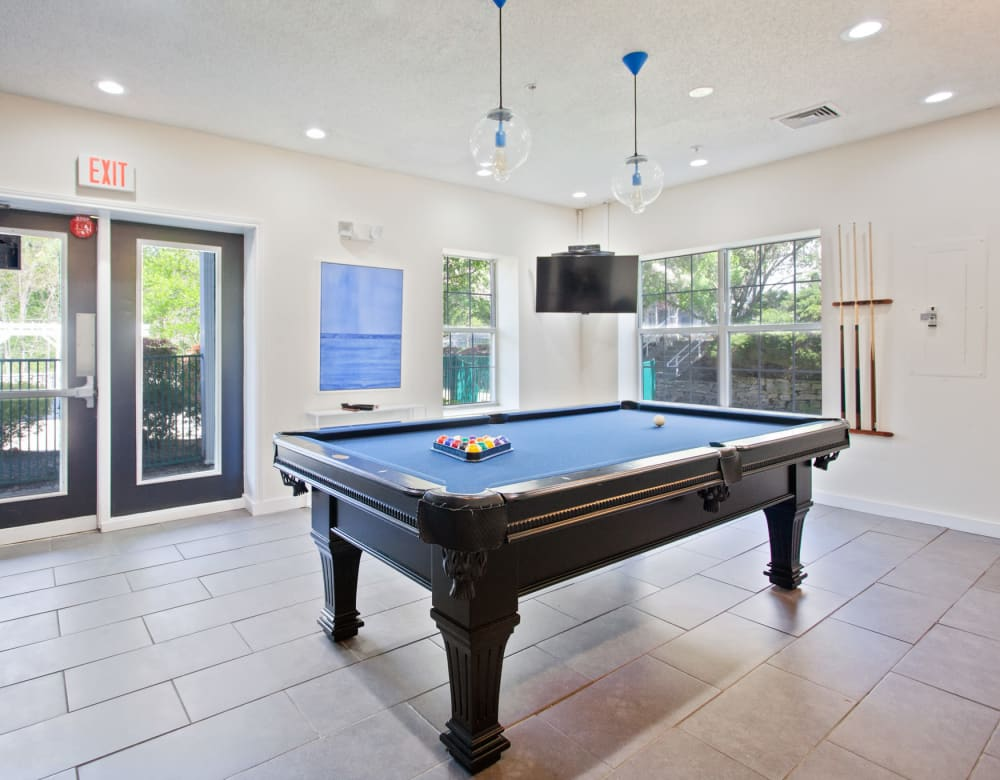 Billiards room at Vista Point Apartments in Wappingers Falls, New York