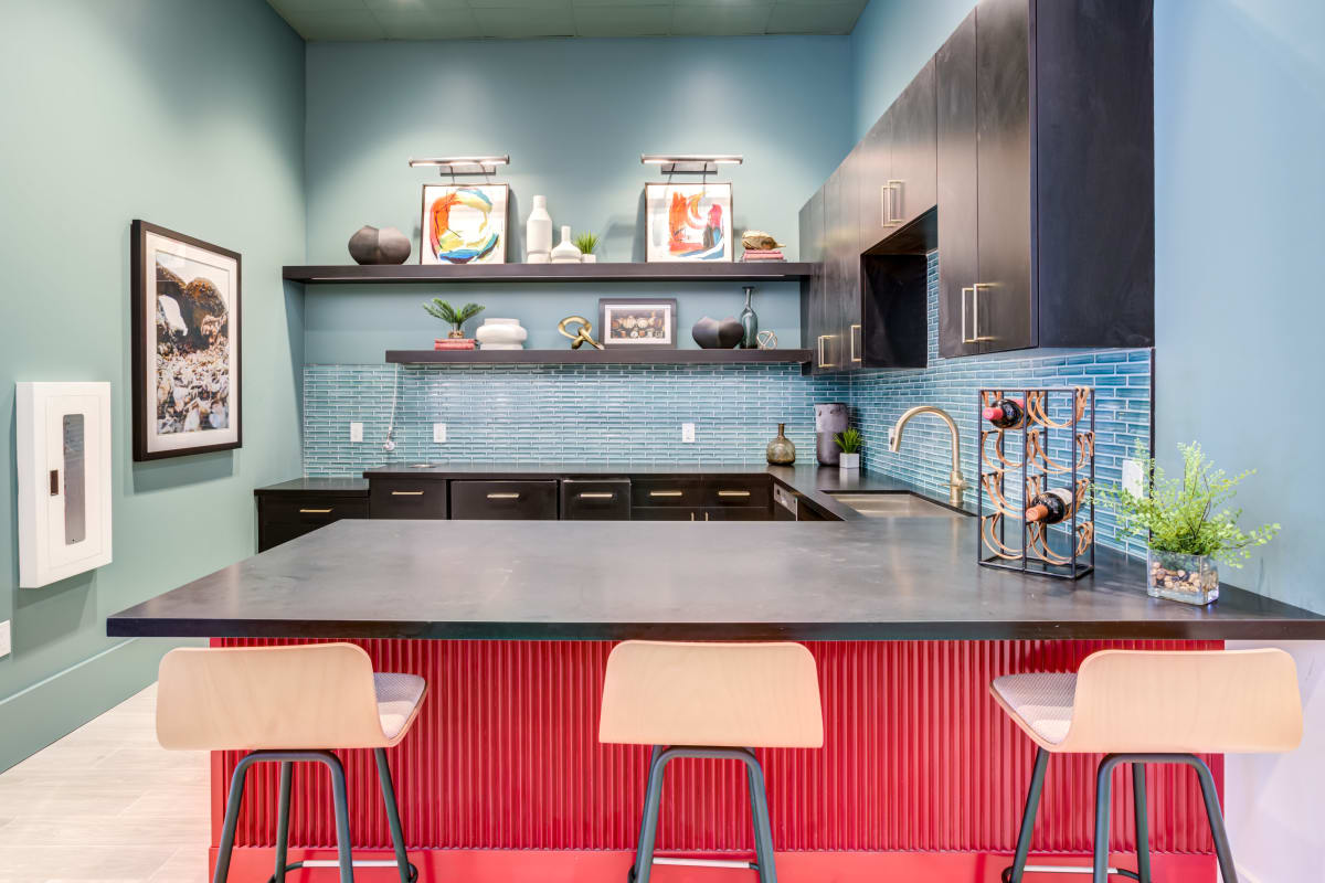 Resident kitchen at Solera at City Centre in Palm Beach Gardens, Florida