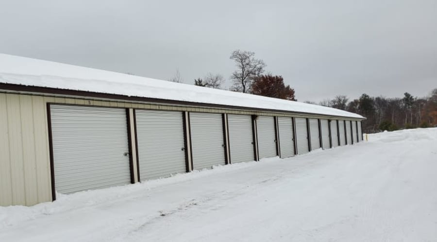 Exterior of outdoor units at KO Storage of Baxter in Baxter, Minnesota