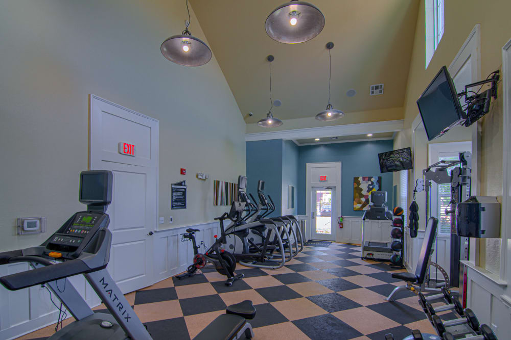 Fitness center at Traditions at Westmoore in Oklahoma City, Oklahoma.