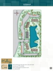 Site map of Kellogg Cove Apartments in Kentwood, Michigan