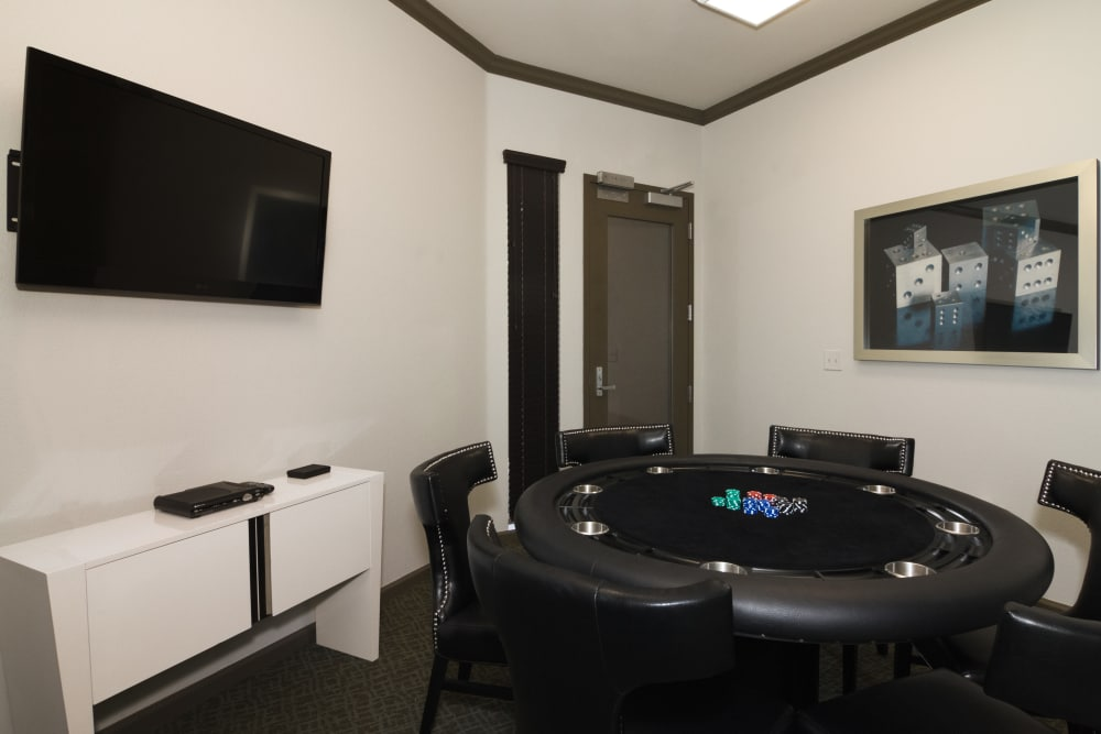 Game room at Links at Westridge in Valencia, California