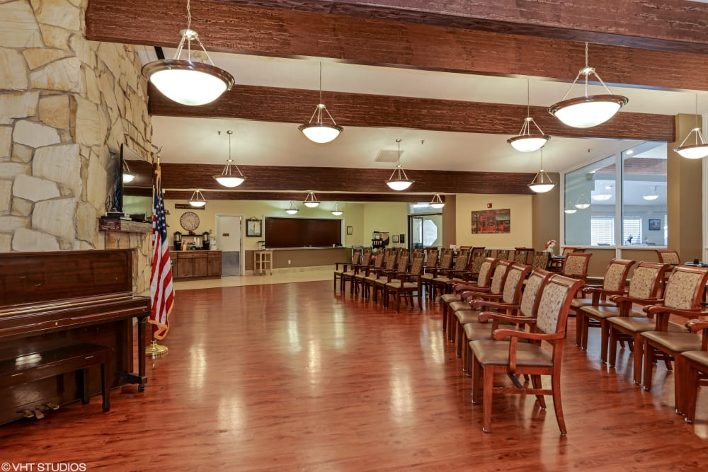 Activity room at Truewood by Merrill, Taylorsville in Taylorsville, Utah.