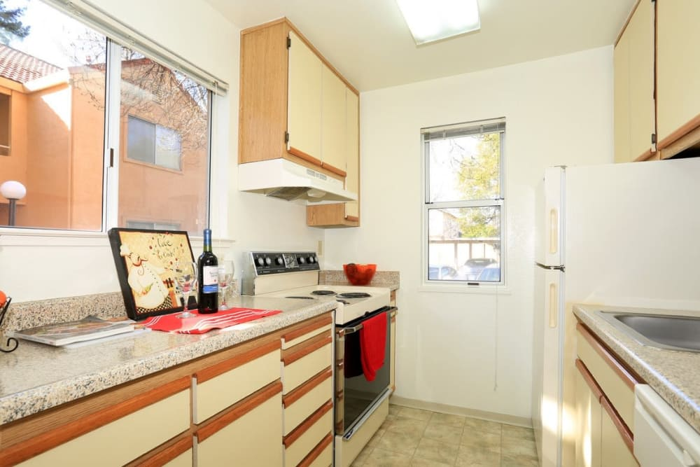 Bright kitchen at Berkshire Laurel Creek Fairfield, California