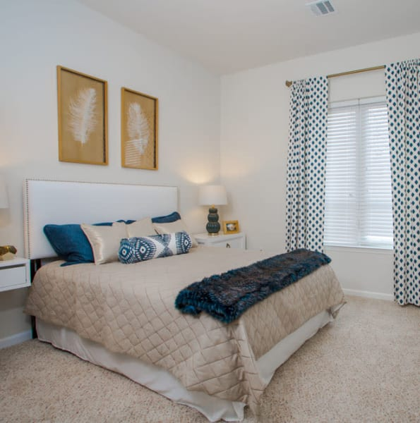 Master bedroom at The Mark Parsippany in Parsippany, New Jersey