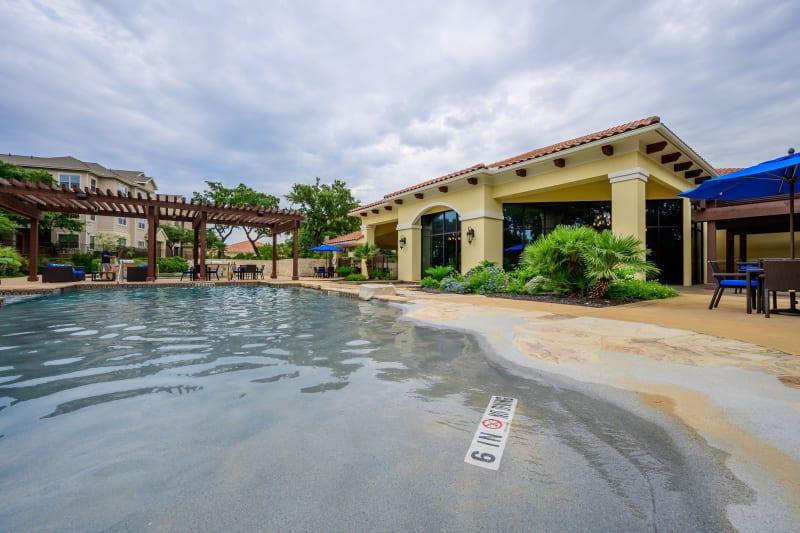Resort style pool at Pecan Springs Apartments in San Antonio, Texas