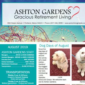 August Ashton Gardens Gracious Retirement Living newsletter